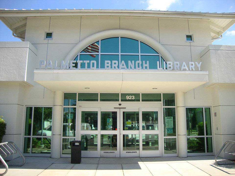 Palmetto Branch Library in Southwest Florida with window tints performed by Suntamers Window Tinting