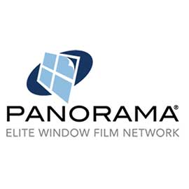 Panorama Elite Window Films Logo, a brand of window film Suntamers Window Tinting offers clients
