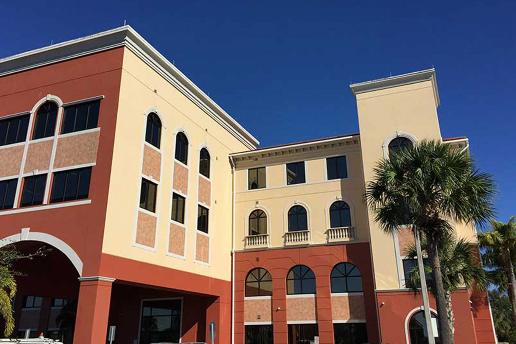 Retail building with tinted windows in Southwest Florida
